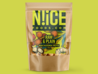 N!iCE Foods 2 nuts illustration graphic design packaging design packaging