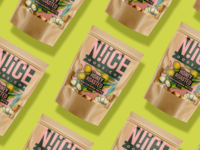 N!iCE Foods 3 packaging nuts branding graphic design packaging design