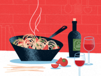 Dinner texture wine food illustration food vector illustration