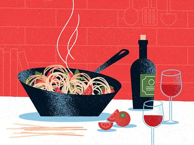 Dinner texture wine food illustration food vector illustration