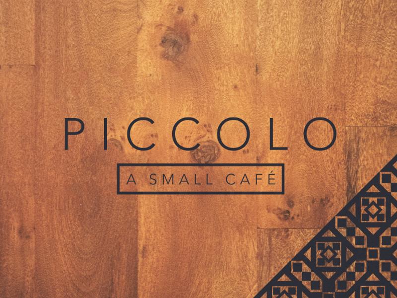 Piccolo logo identity typography pattern restaurant