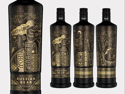 Urban Expressions bottle design illustration african vector gold black urban