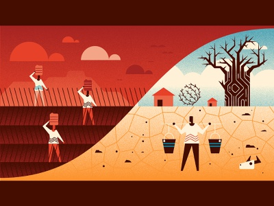 Water Shortage 2 drought water vector illustration