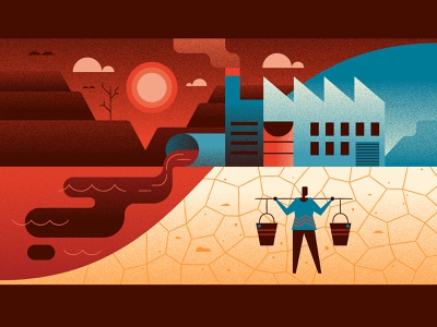 Water Shortage 4 drought water vector illustration