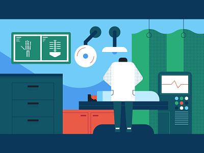 Medical 2 medical care minimal vector illustration