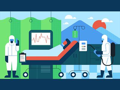 Medical 3 medical care minimal vector illustration
