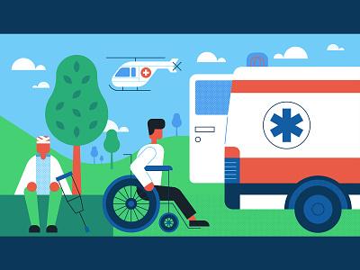 Medical 4 medical care minimal vector illustration