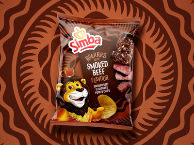 Simba Chips -2 snacks pattern packaging design