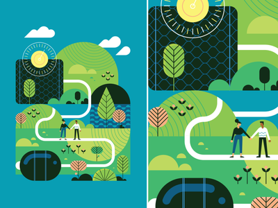 Your Journey To Wellness - 2 medicine medical nature vector illustration