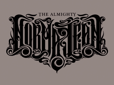 The Almighty Norma Jean lettering typography stoner metal norma jean band logo