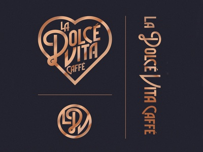 La Dolcé Vita Identity - TBT coffee lettering typography icon identity logo tbt