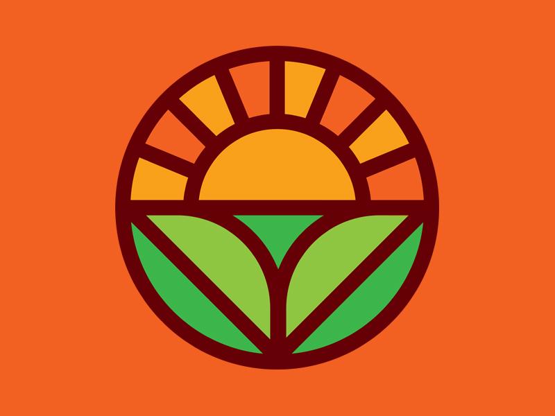 Logo exploration monoline identity branding vector illustration graphic icon sun logo