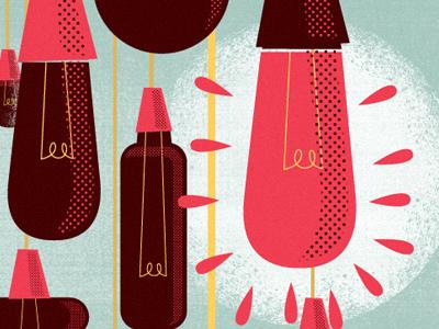 Lightbulbs (Poster process) illustration design lightbulbs poster