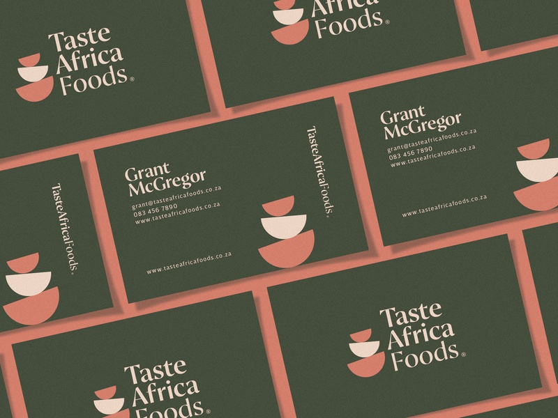 Taste Africa Foods - Business Cards branding identity design business cards logo