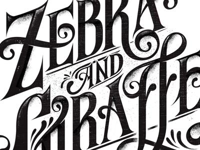 Zebra & Giraffe 2 illustration typography design tshirt design zebra and giraffe hylton warburton