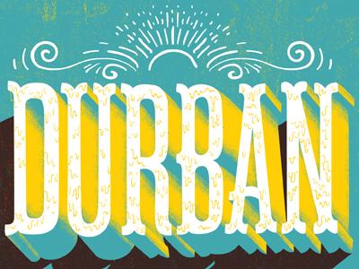 Durban typography design illustration