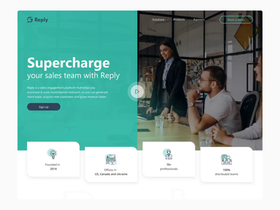 Reply logo web website ux ui design