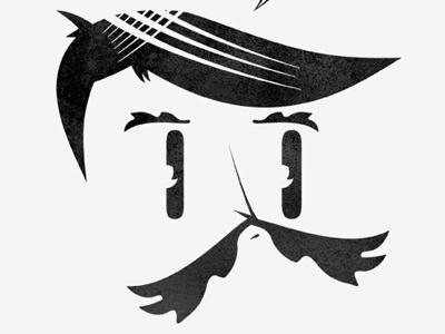 Nest illustration character moustache head face eyes