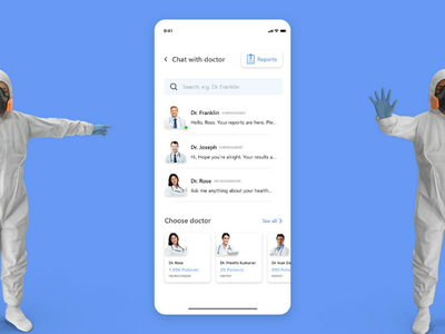 Doctor - Chat & Reports chatscreen chatui doctor productdesign uiuxdesign uxresearch uidesign