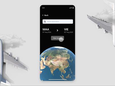 Voyage - Travel Assistance. branding vector ui  ux travel app micro interaction flight booking app flight app booking app airline flight animation uxdesign uxresearch uidesigner uiux ui ux uidesign 3d animation