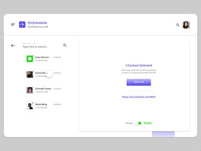 OnSchedule - Product Design(Part 2) timezones call video chat conference dashboard ui dashboard design dashboard minimal animation icon illustration brand designer ux logo ui design branding
