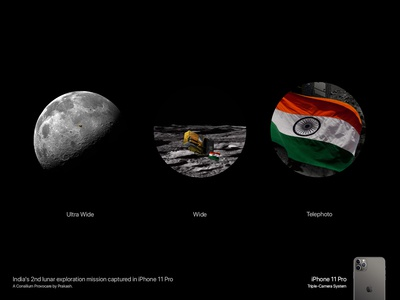 iPhone 11 Pro - Chandrayaan 2 Concept