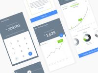 Wealth building app Hi-fidelity Wireframes
