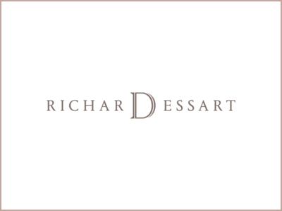 Richard Dessart Logotype logo typography branding type belgium identity serif lettering wordmark font outline portrait