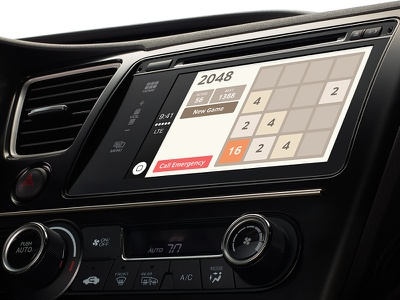 2048 anywhere with iOS CarPlay apple carplay 2048 ios game wtf rebound
