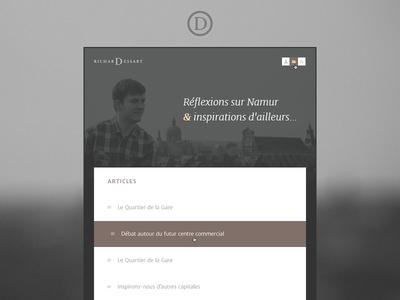 Richard Dessart — Tumblr Theme website portfolio article tumblr theme cover one page writing belgium namur reading posts