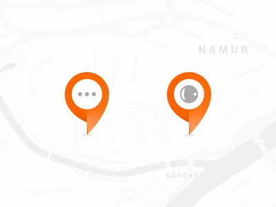 Customized Markers marker pin google google maps maps location icons material flat