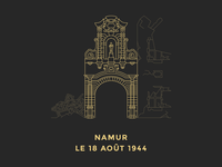 Namur, le 18 août 1944 — Outline Illustration