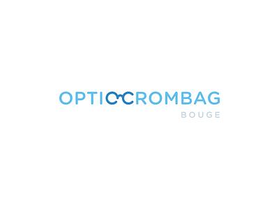 Optic Crombag belgium optician optic optic-crombag spectacles typography glasses blue branding brand logo ligature