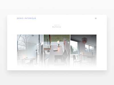 Denis Intérieur (Namur) suite belgium fullscreen animation menu responsive home italian design minimal white furniture website