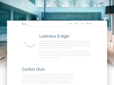 Hi-Finity scroll animation clean design window furniture white webdesign