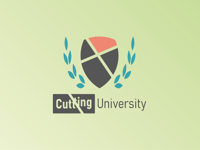 Cutting University Logo logo logodlc dailylogo dailylogochallenge