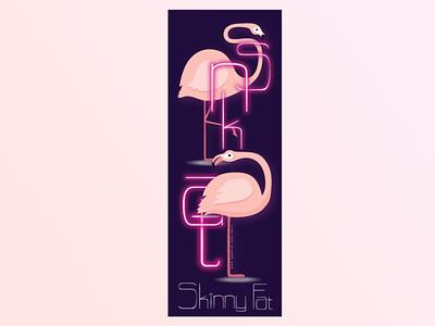 Skinny Fat poster typogaphy vector adobe illustrator illustration
