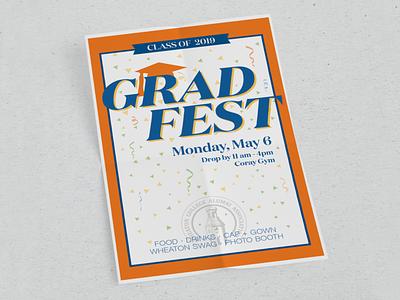 Grad Fest Poster branding typogaphy poster illustration graphicdesign