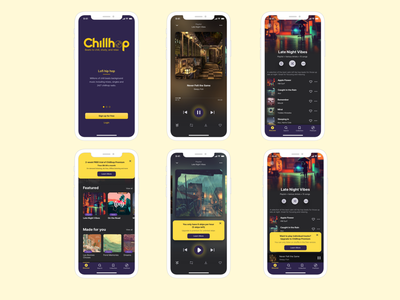 Chillhop Music App music app ux ui mobile app mobile