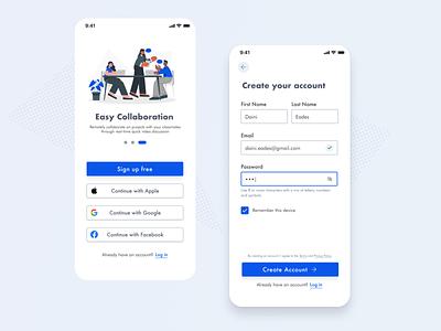 Signup UI Design ui mobile signup dailyui