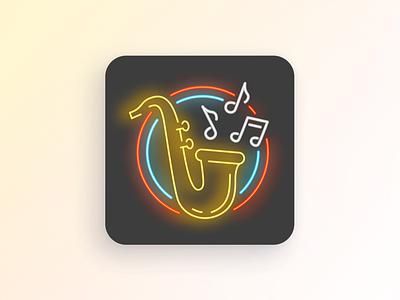 Daily UI: App Icon — Jazz Music figma adobe illustrator logo icon mobile app ui dailyui