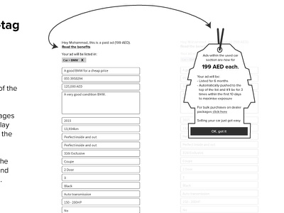 Hang tag wireframe dubizzle wireframe ux