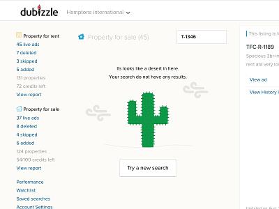 Zero results page dubai ui dashboard dubizzle