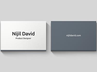 Minimal card business card. minimal product designer card