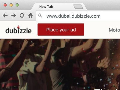 dubizzle homepage - initial designs
