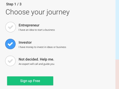 Choose Your Journey iteration ui