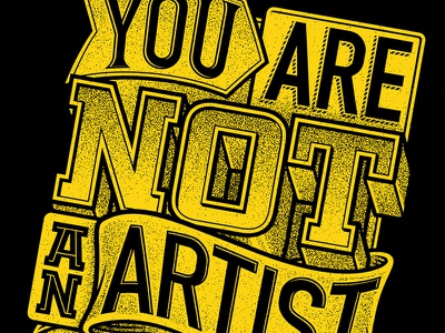 You are... illustration typography print-making
