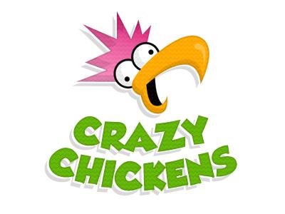 I suck at logos crazy chickens texture green pink orange logo grobold
