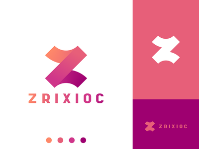 Zrixioc Logo atluh zrixioc pink orange affinitydesigner vector logo design z logo z