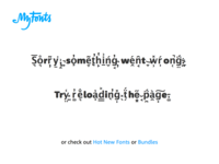MyFonts error page